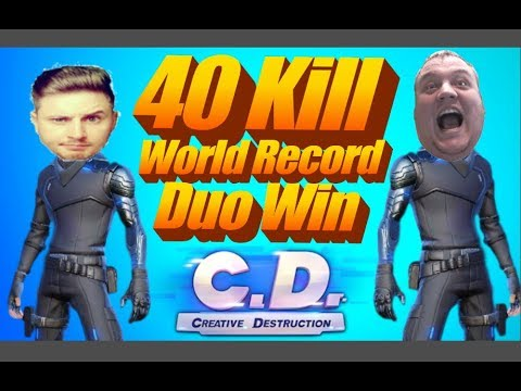 40 KILL WORLD RECORD DUO WIN! | CREATIVE DESTRUCTION | OMG!!!