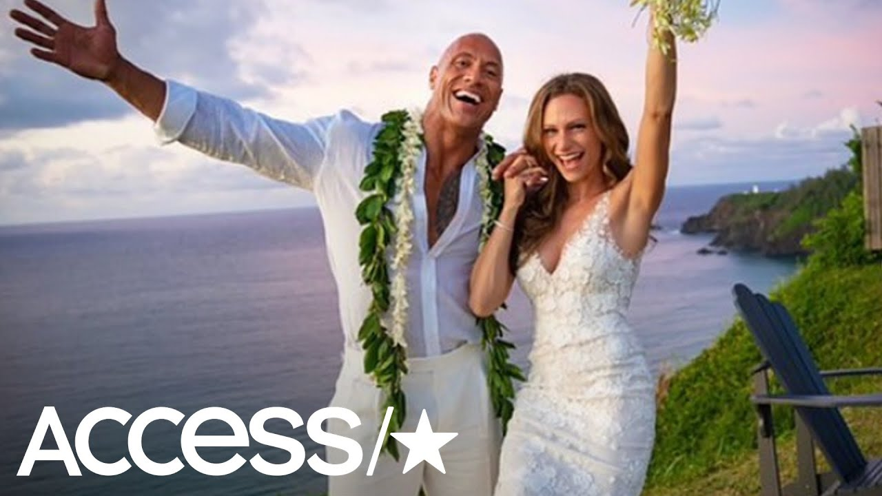 "Dwayne ""The Rock"" Johnson and Lauren Hashian marry in Hawaii"