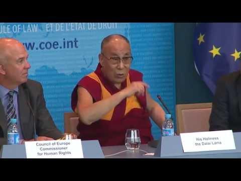 The Dalai Lama visits the Council of Europe