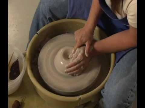 Danielle ~ The Clay Lady - Throwing a Pot on the Potters Wheel Pt. 1