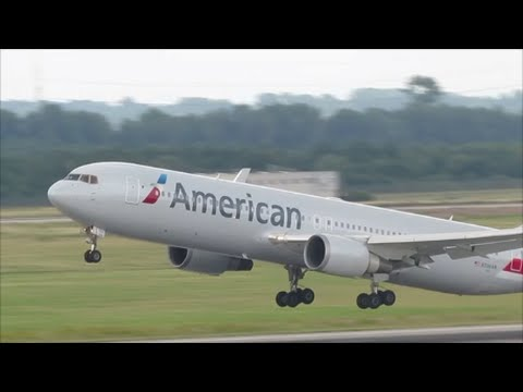 American Airlines Boeing 767-300 (Winglets) ´Taxi And Takeoff At Düsseldorf Airport| HD