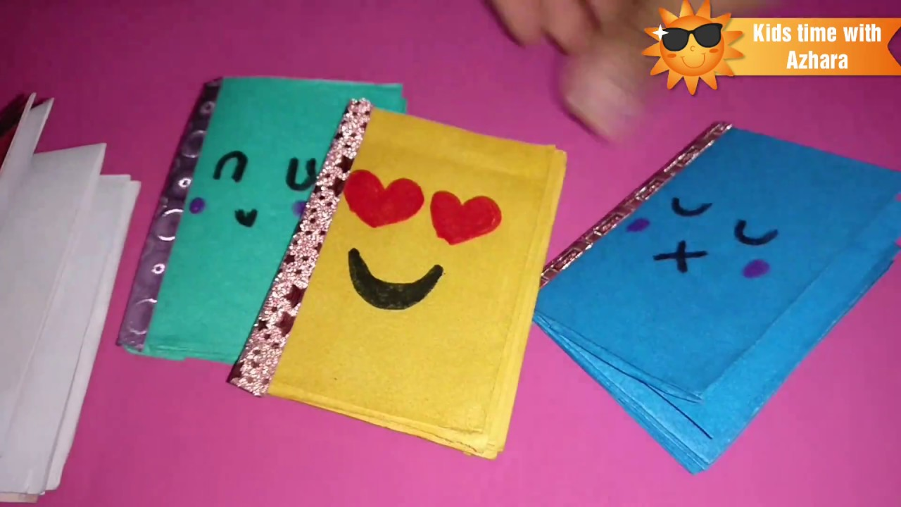 Mini Book Made Without Glue Kids Summer Craft Ideas Youtube