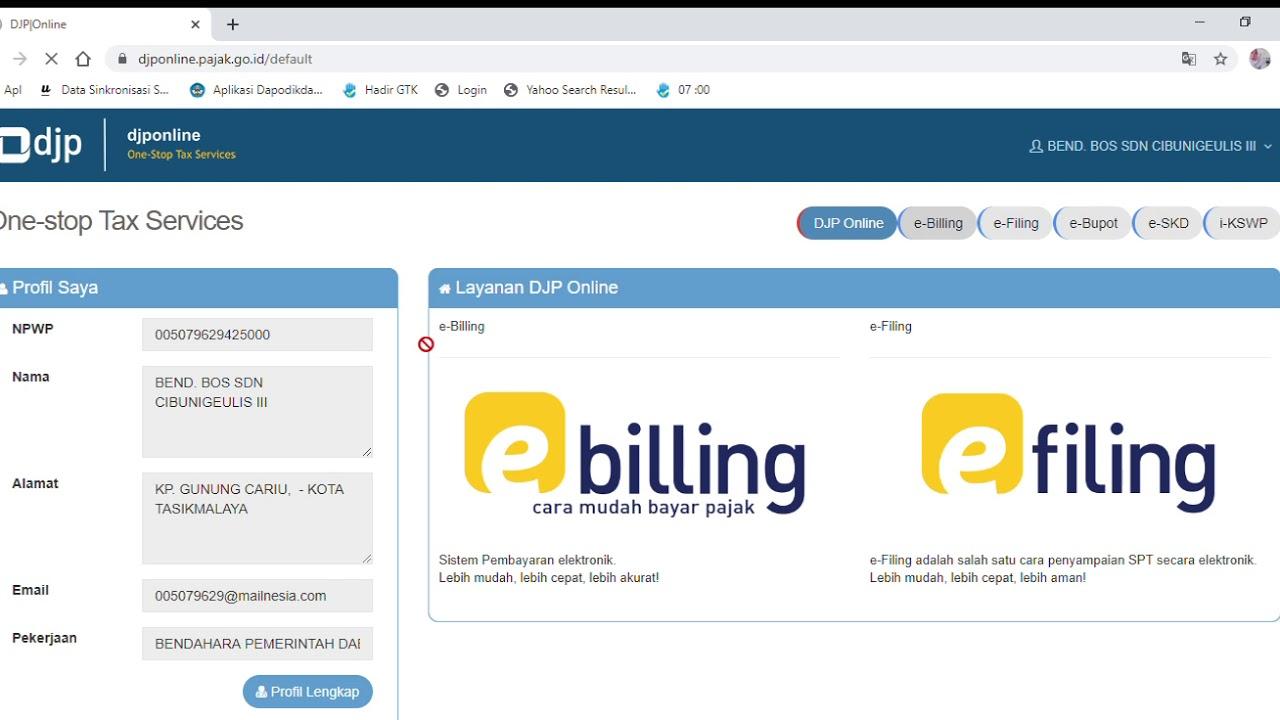 Cara Membuat E-Billing Pajak Online - YouTube