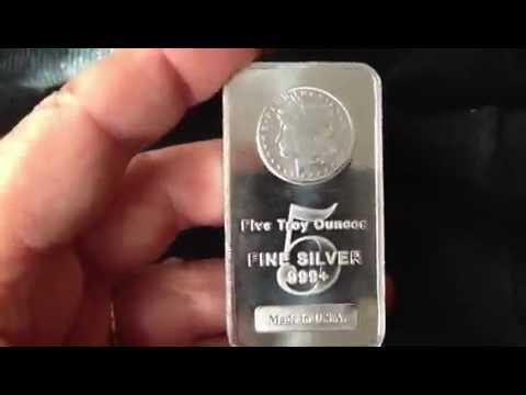 5 oz Sunshine Silver Bar New MintMark SI  JM Bullion