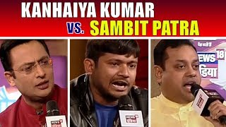 Kanhaiya Kumar vs Sambit Patra | Big Debate | Chaupal 2017 | News18 India