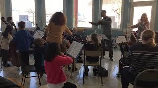 La classe orchestre de l'école de Dignac