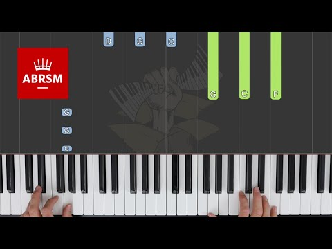 InterCity Stomp / ABRSM Piano Grade 2 2021 & 2022, C:3 / Synthesia Piano tutorial