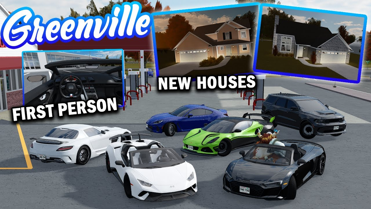 Download 56 NEW CARS, FIRST PERSON DRIVING, NEW HOUSES & MORE! (GV UPDATE PT 1) || ROBLOX - Greenville