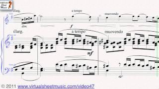 Serjeij Rachmaninoff's Vocalise Op.34 No. 14, Violin and Piano Sheet Music - Video Score