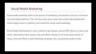 Social Media & Facebook Marketing Introduction & Overview