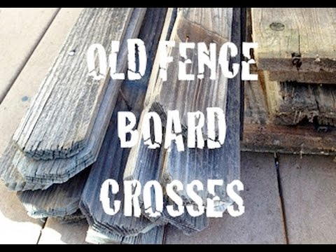 Old Fence Board Crosses