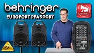 BEHRINGER EUROPORT PPA500BT - звукоусилительный комплект