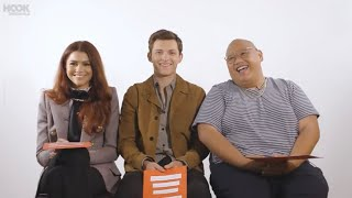 tom holland, zendaya & jacob being a chaotic trio for 1 minute and 28 seconds