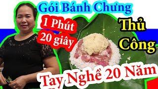 #125 DT Vlog |Mẹ Gói Bánh Chưng Thủ Công Tay Nghề 20 Năm | Hướng Dẫn Gói Bánh Chưng | Cuộc Sống Nga