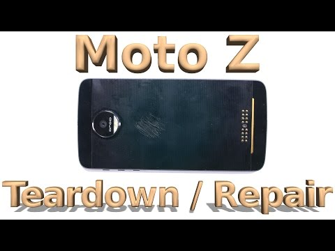 Moto Z Teardown - Screen Repair - Battery Replacement - YouTube