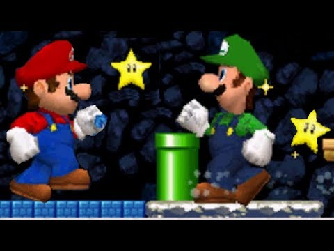 New Super Mario Bros. DS - Mario Vs. Luigi Mode #5 (All Courses)