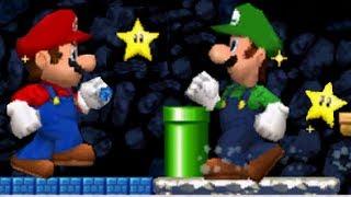 New Super Mario Bros. DS - Mario Vs. Luigi Mode #5 (All Cour...