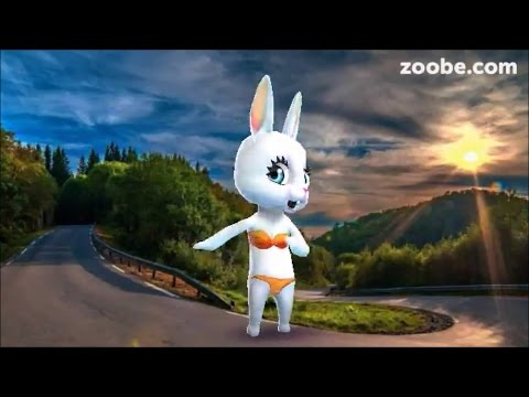 Zoobe Зайка Я сяду в машину, поеду по серпантину - Как поздравить с Днем Рождения