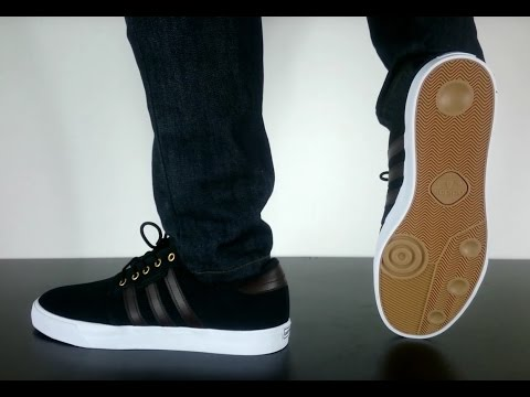 ADIDAS SKATEBOARDING SEELEY core black dark brown ft white - YouTube 8d261f0fa