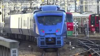 JR九州 博多駅を発着する電車たち 朝ラッシュ(高画質)