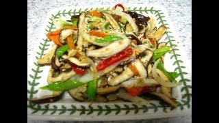표고버섯 볶음 만들기 ( 향긋한맛 ):  Braised…
