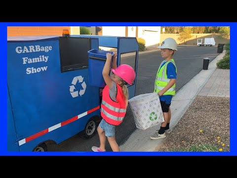 Kids Recycle Plastic With Their Recycle Truck