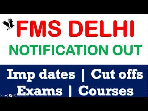 FMS DELHI NOTIFICATION OUT 2019