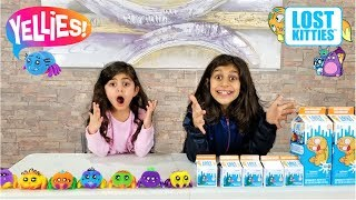 Kids Pretend Play Surprise Toys opening!!! Lost Kitties and Yellies