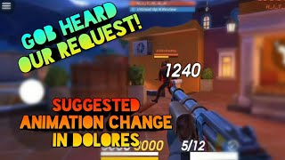 GOB Heard Our Request ! Implemented suggested Animation Change || Guns of Boom
