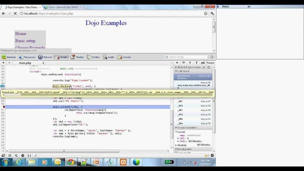 Dojo JavaScript Introduction
