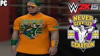 "WWE 2K15 PC Community Creations/Mod: John Cena ""15X"" 2015 Attire & Graphics Mod!"