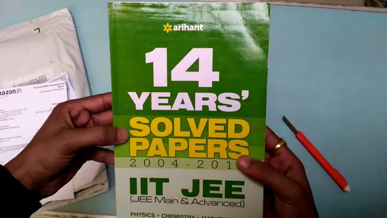 Iit Jee Solved Papers Book
