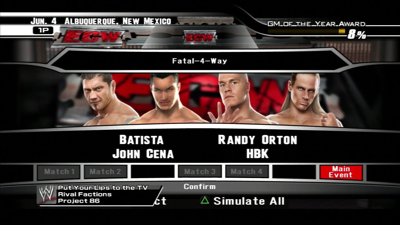 Smackdown vs Raw 2008 General Manager Mode - Episode 12 ...