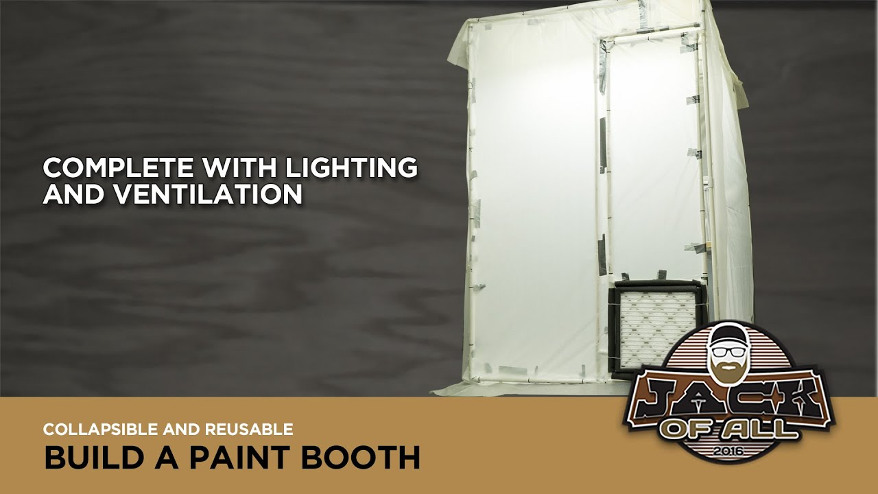 Build a Collapsible PVC Paint Booth - YouTube