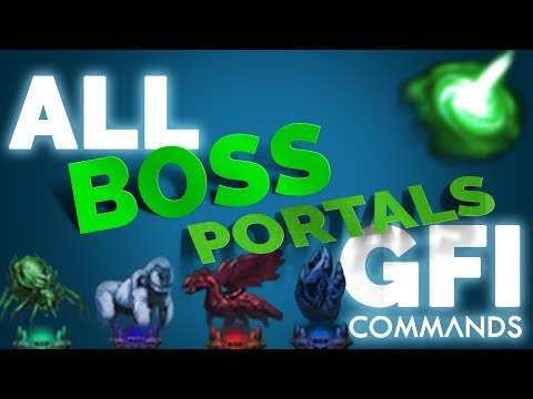 SPAWN ALL The BOSS Portals In ARK Survival Evolved   GFI Commands