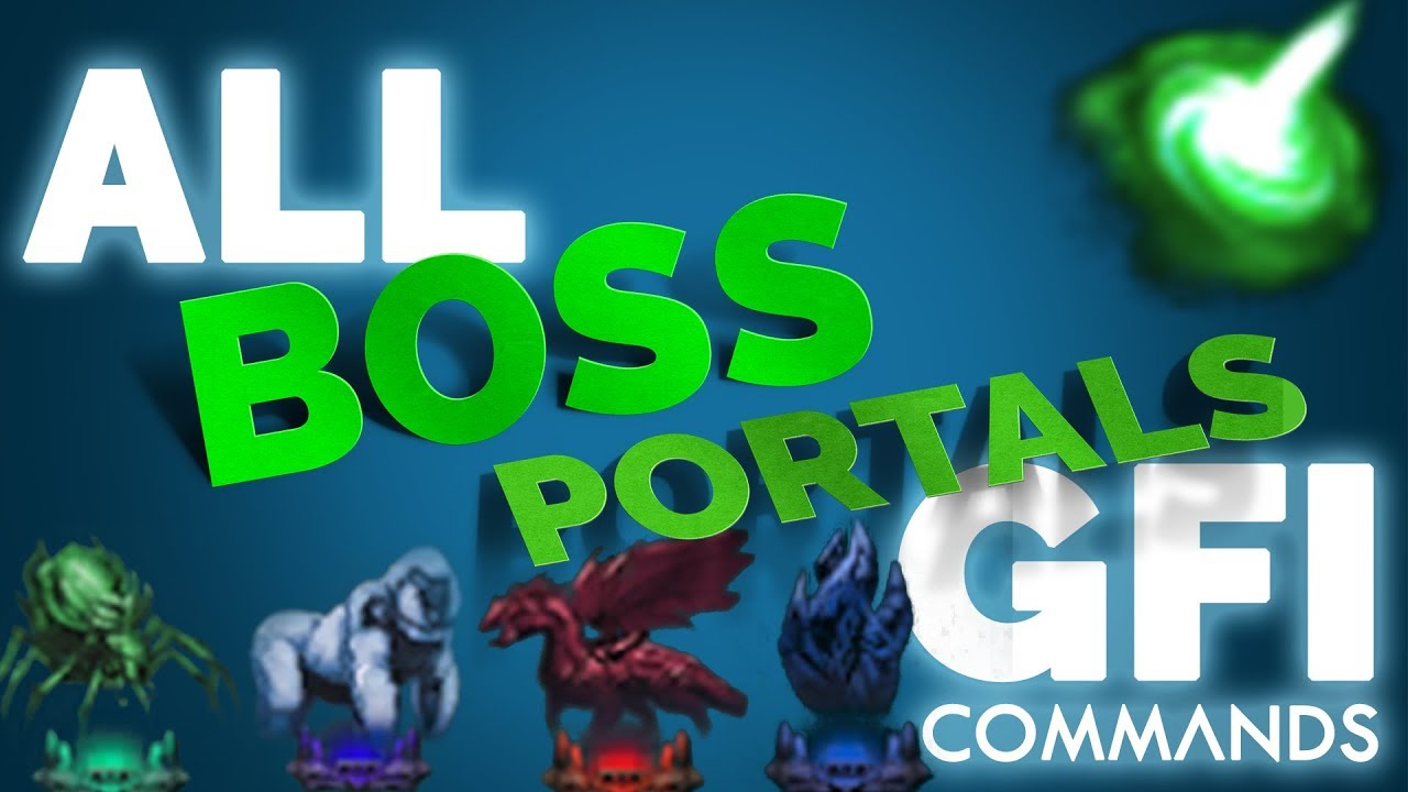 SPAWN ALL the BOSS Portals in ARK Survival Evolved | GFI Commands