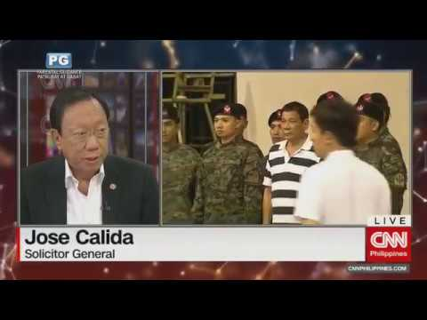 DU30 NEWS UPDATE: SOLICITOR GENERAL JOSE CALIDA January 12, 2018
