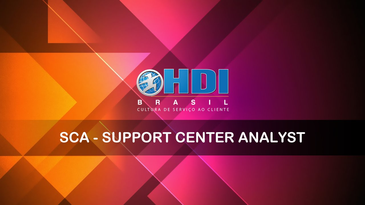 Hdi Sca Support Center Analyst Youtube