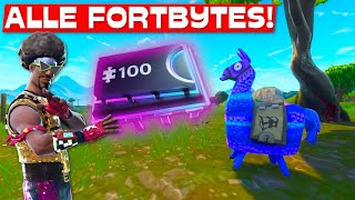 ALLE 100 FORTBYTES in EINEM VIDEO! | Fortnite Fortbytes Map