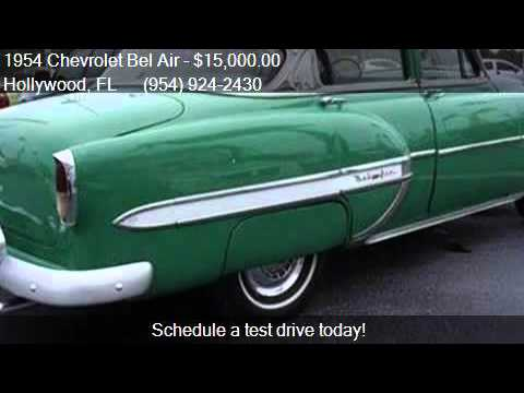 1954 chevrolet bel air 4 door for sale in hollywood fl for 1954 belair 4 door