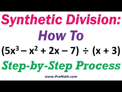 Synthetic Division How To: Step-by-Step Process
