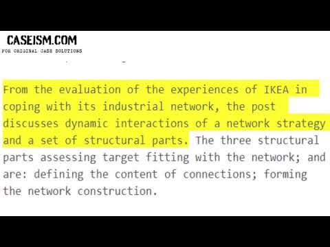 Strategy in Industrial Networks: Experiences from IKEA Case Study Help - Caseism.com