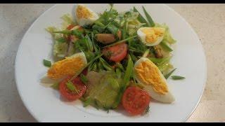"""Очень простой и вкусный Салат с мидиями """"Корсика""""(Salad with mussels)"""