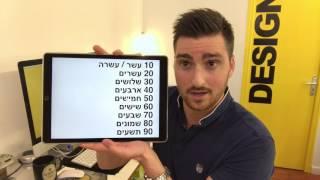 Apprendre l'hébreu, les nombres - débuter avec