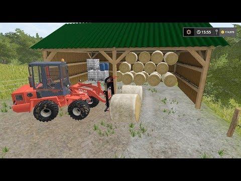 Bale stacking | Small Farm | Farming Simulator 2017 | Episode 30