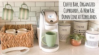 Coffee Bar, Organized Cupboards, and New Rae Dunn Line at Kirklands