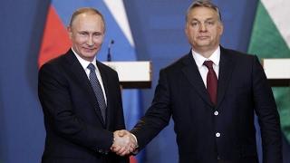 Vlagyimir Putyin és Orbán Viktor sajtótájékoztatója