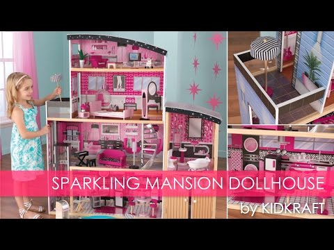 girl's-pink-sparkle-mansion-dollhouse---toy-review