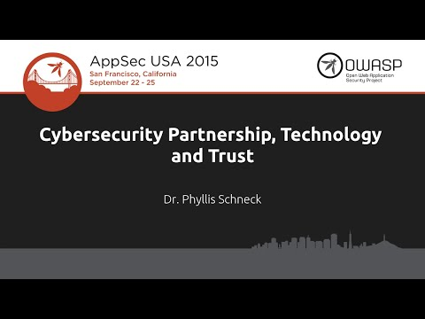 Keynote: Cybersecurity Partnership, Technology and Trust  - AppSecUSA 2015