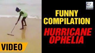 FUNNY Compilation Of Hurricane Ophelia In Ireland   Lehren News